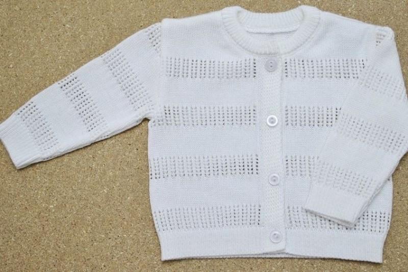 Sweterek dziewczęcy biały